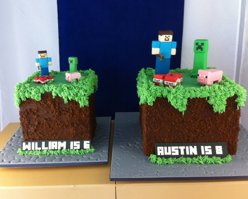 Minecraft Block Cake Images : Minecraft Cakes - Sugarlily Cakes